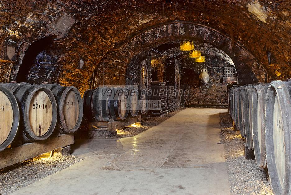 Europe/France/Bourgogne/21/Côte d'Or/Beaune: Cave Patriarche - Détail des barriques de vin [Non destiné à un usage publicitaire - Not intended for an advertising use]