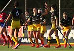 Olivia Shannon of the Central Falcons celebrates a goal. Southern Alpiners v Central Falcons. Sentinel Homes Hockey Premier League Waikato Hockey, Hamilton, New Zealand. Photo: Simon Watts/www.bwmedia.co.nz/HockeyNZ