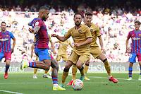 26th September 2021; Nou Camp, Barcelona, Spain: La Liga football, FC Barcelona versus Levante:  Memphis Depay shoots at goal in the box