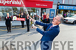 PJ McGee manager of Daly's Supervalu, Killarney celebrating selling a 9.7 million national lottery winning ticket with staff: Peggy Watson Sandra Brosnan Ann Galvin, Denis McCarthy and Patricia O'Connor.