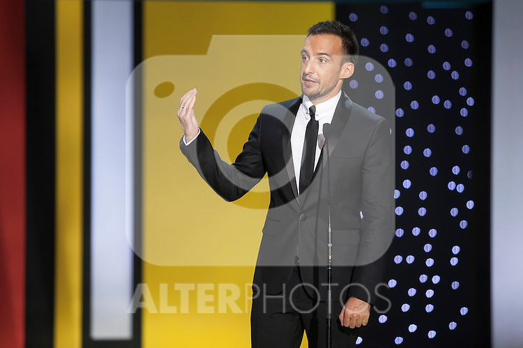Movie director Alejandro Amenabar during the 63rd Donostia Zinemaldia opening ceremony (San Sebastian International Film Festival) in San Sebastian, Spain. September 18, 2015. (ALTERPHOTOS/Victor Blanco)