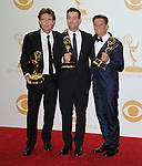 John de Mol,Carson Daly, Mark Burnett attends 65th Annual Primetime Emmy Awards - Arrivals held at The Nokia Theatre L.A. Live in Los Angeles, California on September 22,2012                                                                               © 2013 DVS / Hollywood Press Agency