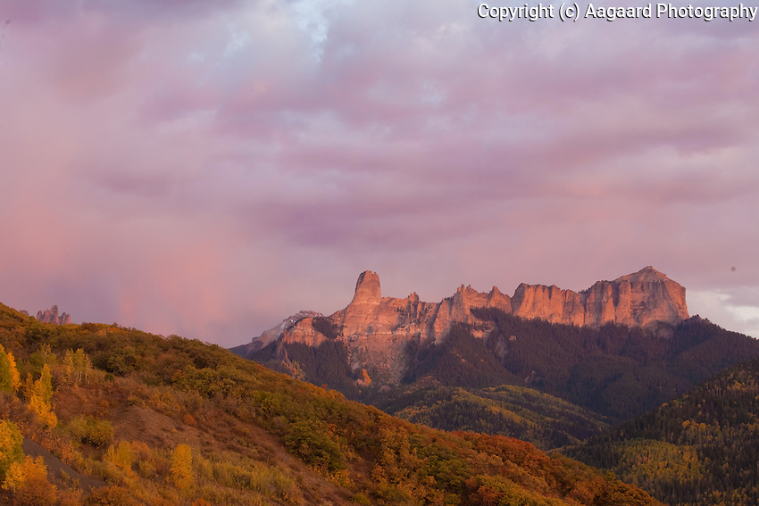 """The Castle, Owl Creek Pass, Colorado.  The point at the left of this formation ovelooks the meadow where part of John Wayne's """"True Grit"""" was filmed.<br /> <br /> Canon EOS 5D, 70-200 f/2.8L lens"""