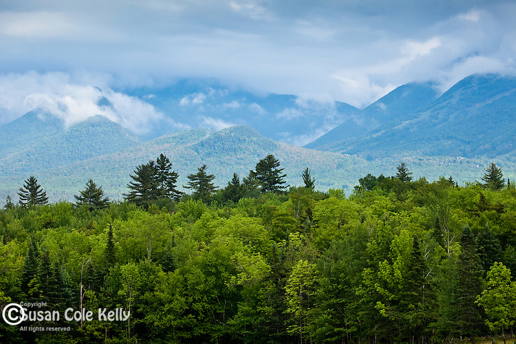 View of the White Mountain foothills from Sugar Hill, NH, USA