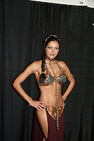 Adrianne Curry appears at Big Apple Comic Con for autographs and photos on October 16 (and 17 & 18), 2009 at Pier 94, New York City, New York. (Photo by Sue Coflin/Max Photos)
