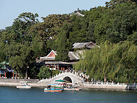 Insel Qiongdao im BeiHai See, Peking, China, Asien<br /> Island Qiongda in Beihai lake, Beijing, China, Asia