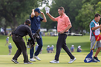 30th May 2021; Fort Worth, Texas, USA;  Jason Kokrak tips his hat to the gallery after winning the Charles Schwab Challenge on May 30, 2021 at Colonial Country Club in Fort Worth, TX.