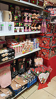 "Pictured: The penis-shaped novelties and gifts for sale at Christmas Wonderland pop-up shop in Swansea, Wales, UK<br /> Re: A pop-up trader has been condemned for ""peddling festive porn"" by stocking raunchy boob and willy merchandise alongside the tinsel and mistletoe.<br /> Shocked families with young kids expecting to snap up a cheap bauble are greeted by inflatable penises, sponge willies and an array of gaudy erections doubling as money boxes.<br /> Bargain hunters in Swansea were drawn to the Christmas Wonderland pop-up shop when it appeared this week at the centre of the city's popular festive market.<br /> While some find the sexually explicit stock just a bit of fun, families are furious that very young kids are greeted with ""filth.""<br /> Boasting ""Bargains Galore"" a shop sign outside lists bows, tinsel, tags and Xmas wrap among its festive stock - but makes no mention of squeeze boobs or penis stethoscopes.<br /> ""My kids were all excited to go round the colourful Christmas market. But once we walked inside the kids came face to face with filth,"" said a young mum, from Sketty, Swansea, who did not want to be named.<br /> ""My daughter is only seven and her brother's five. I would never knowingly let them go into a shop which stocks this kind of stuff.<br /> ""I don't want to sound like a prude but a shop like this should be for adults only. They are peddling festive porn. It's junk as far as l'm concerned."