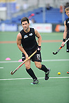 The Hague, Netherlands, June 03: ?n21+ warms up before the field hockey group match (Men - Group B) between South Africa and the Black Sticks of New Zealand on June 3, 2014 during the World Cup 2014 at GreenFields Stadium in The Hague, Netherlands. Final score 0:5 (0:3) (Photo by Dirk Markgraf / www.265-images.com) *** Local caption ***