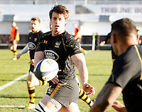 Photo: Richard Lane/Richard Lane Photography. RC Toulon v Wasps.  European Rugby Champions Cup. 17/01/2016. Wasps' James Gaskell warms up.