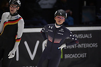 SPEEDSKATING: DORDRECHT: 07-03-2021, ISU World Short Track Speedskating Championships, RF 1000m Men, Andrew Heo (USA), ©photo Martin de Jong