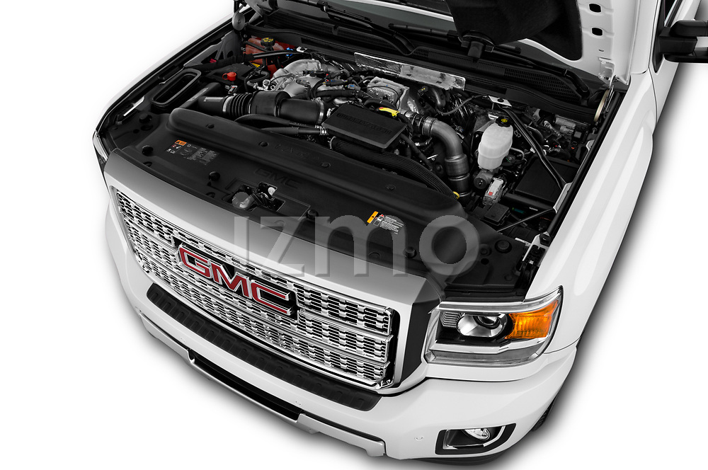 Car Stock 2019 GMC Sierra-2500 Denali 4 Door Pick-up Engine  high angle detail view