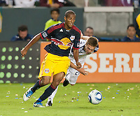CARSON, CA - November 3, 2011: NY Red Bull defender Roy Miller (7) during the match between LA Galaxy and NY Red Bulls at the Home Depot Center in Carson, California. Final score LA Galaxy 2, NY Red Bulls 1.