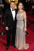 HOLLYWOOD, LOS ANGELES, CA, USA - MARCH 02: Brad Pitt, Angelina Jolie at the 86th Annual Academy Awards held at Dolby Theatre on March 2, 2014 in Hollywood, Los Angeles, California, United States. (Photo by Xavier Collin/Celebrity Monitor)