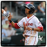 #OTD On This Day, May 30, 2013, second baseman Mookie Betts (7) of the Greenville Drive crossed the plate after scoring one of his two runs in a game against the Asheville Tourists at Fluor Field at the West End in Greenville, South Carolina. After playing with Boston for six years, he is now with the Dodgers. (Tom Priddy/Four Seam Images) #MiLB #OnThisDay #MissingBaseball #nobaseball #stayathome #minorleagues #minorleaguebaseball #Baseball #SallyLeague #AloneTogether