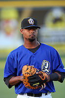 May 14 2009: Alberto Rosario of the Rancho Cucamonga Quakes before game against the High Desert Mavericks at The Epicenter in Rancho Cucamonga,CA.  Photo by Larry Goren/Four Seam Images