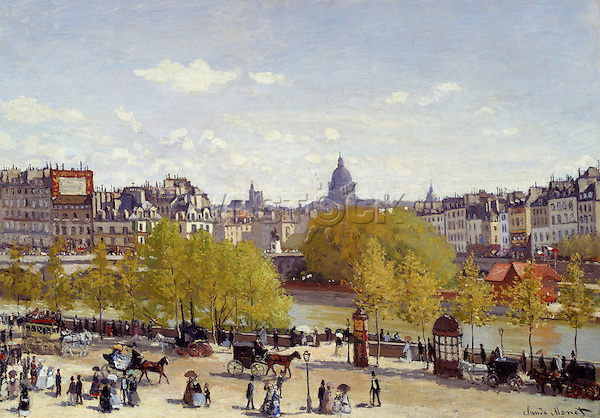 Claude Monet - Quai du Louvre (1867). La Haye, Haags Gemeentemuseum.