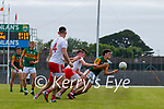 Paul O'Shea, Kerry, in action against Ronan O'Neill, Tyrone, during the Allianz Football League Division 1 Semi-Final, between Tyrone and Kerry at Fitzgerald Stadium, Killarney, on Saturday.