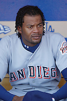 Jason Boyd of the San Diego Padres before a 2002 MLB season game against the Los Angeles Dodgers at Dodger Stadium, in Los Angeles, California. (Larry Goren/Four Seam Images)