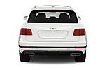 Straight rear view of a 2018 Bentley Bentayga Base 5 Door SUV stock images