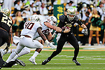 Baylor Bears quarterback Seth Russell (17) in action during the game between the Oklahoma State Cowboys and the Baylor Bears at the McLane Stadium in Waco, Texas.