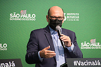 SÃO PAULO, SP, 31.05.2021 - COVID-19-SP - Dimas Covas, Diretor do Instituto Butantan, participa de apresentação de informações sobre o combate ao coronavírus (COVID-19) em São Paulo, no Instituto Butantan, nesta segunda-feira, 31. (Foto: André Ribeiro/Brazil Photo Press)