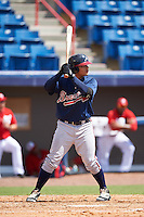 Atlanta Braves Anthony Concepcion (76) during an Instructional League game against the Washington Nationals on September 30, 2016 at Space Coast Stadium in Melbourne, Florida.  (Mike Janes/Four Seam Images)