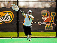 25 April 2009: University of Vermont Catamount goalkeeper Olivia Hatfield, a Freshman from Alpharetta, GA, in action against the Stony Brook University Seawolves at Moulton Winder Field in Burlington, Vermont. The Lady Cats defeated the visiting Seawolves 19-11 on Seniors Day, Vermont's last home game of the 2009 season. Mandatory Photo Credit: Ed Wolfstein Photo