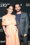 WEST HOLLYWOOD, CA - OCTOBER 14: Lizzy Caplan and Tom Riley at Hulu's Castle Rock Season 2 Premiere at AMC Sunset 5 in West Hollywood, California on October 14, 2019. Credit: Faye Sadou/MediaPunch