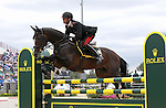 Stefano Brecciaroli and Apollo van de Wendi Kurt Hoeve of Italy compete in the final stadium jumping round of the FEI  World Eventing Championship at the Alltech World Equestrian Games in Lexington, Kentucky.