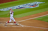 11 October 2012: Washington Nationals rookie outfielder Bryce Harper in action during Postseason Playoff Game 4 of the National League Divisional Series against the St. Louis Cardinals at Nationals Park in Washington, DC. The Nationals defeated the Cardinals 2-1 on a 9th inning, walk-off solo home run by Jayson Werth, tying the Series at 2 games apiece. Mandatory Credit: Ed Wolfstein Photo