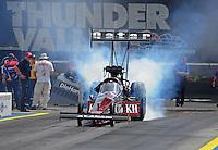 Jun. 19, 2011; Bristol, TN, USA: NHRA top fuel dragster driver Larry Dixon during the Thunder Valley Nationals at Bristol Dragway. Mandatory Credit: Mark J. Rebilas-
