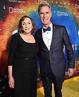 "LOS ANGELES - FEBRUARY 26: Ann Druyan and Bill Nye attend National Geographic's 2020 Los Angeles premiere of ""Cosmos: Possible Worlds"" at Royce Hall on February 26, 2020 in Los Angeles, California. Cosmos: Possible Worlds premieres Monday, March 9 at 8/7c on National Geographic. (Photo by Frank Micelotta/National Geographic/PictureGroup)"