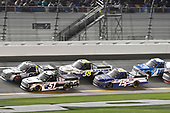#51: Riley Herbst, Kyle Busch Motorsports, Toyota Tundra Mobil 1, #99: Ben Rhodes, ThorSport Racing, Ford F-150, #38: Todd Gilliland, Front Row Motorsports, Ford F-150 Black's Tire, #15: Tanner Gray, DGR-Crosley, Ford F-150 Ford | Ford Performance