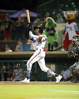 Esteury Ruiz participates in the 2019 California League All-Star Game at San Manuel Stadium on June 18, 2019 in San Bernardino, California (Bill Mitchell)