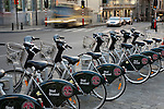 Belgium, Province Brabant, Brussels: Rental bicycles in city centre