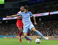 21st September 2021; Etihad Stadium,Manchester, England; EFL Cup Football Manchester City versus Wycombe Wanderers; Finley Burns of Manchester City controls the ball