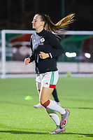 Hannah Eurlings (9 OHL) pictured during the warm up before a female soccer game between Oud Heverlee Leuven and Standard Femina De Liege on the 10th matchday of the 2020 - 2021 season of Belgian Womens Super League , sunday 20 th of December 2020  in Heverlee , Belgium . PHOTO SPORTPIX.BE | SPP | SEVIL OKTEM