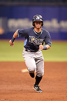 Tampa Bay Rays outfielder Zacrey Law (11) during an Instructional League game against the Boston Red Sox on September 25, 2014 at Tropicana Field in St. Petersburg, Florida.  (Mike Janes/Four Seam Images)