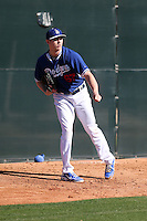 Chris Reed of the Los Angeles Dodgers participates in the first day of spring training workouts at Camelback Ranch on February 9, 2014 in Glendale, Arizona (Bill Mitchell)