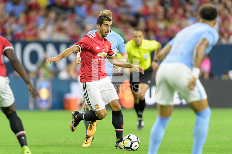 Houston, TX - Thursday July 20, 2017: Henrikh Mkhitaryan during a match between Manchester United and Manchester City in the 2017 International Champions Cup at NRG Stadium.