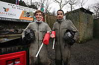 Pictured L-R: Players Joe Allen and Scott Sinclair in full gear.Tuesday 25 January 2011<br />