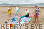 Members of the Tralee Toastmasters Club enjoying the beach Staycation on Derrymore beach on Tuesday. <br /> Front right: Sonya Elston.<br /> Sergey Udaltsov (President) on the beach towel.<br /> Back l to r: Aine Quinn, Lily Tangney, and John McGillicuddy