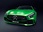 Green 2017 Mercedes-Benz AMG GT R Coupe sports car Grand Tourer luxury car isolated on black background with clipping path Image © MaximImages, License at https://www.maximimages.com