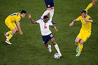 3rd July 2021, Stadio Olimpico, Rome, Italy;  Euro 2020 Football Championships, England versus Ukraine quarter final;  Raheem Sterling England against Andriy Yarmolenko Ukraine