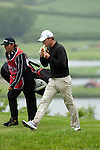 3rd June 2012 - Celtic Manor Resort - Newport - South Wales - UK :   Magnus A Carlsson of Sweden eats a banana at the ISPS Handa Wales Open Golf Tournament at the Celtic Manor Resort..