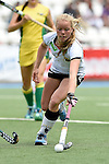 GER - Mannheim, Germany, May 24: During the U16 Girls match between Australia (green) and Germany (white) during the international witsun tournament on May 24, 2015 at Mannheimer HC in Mannheim, Germany. Final score 0-6 (0-3). (Photo by Dirk Markgraf / www.265-images.com) *** Local caption *** Emma Davidsmeyer #4 of Germany