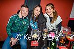Enjoying the evening the in Turners bar on Saturday, l to r: Aaron O'Keeffe, Sharon Brady and Sinefa O'Brien.