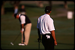 Tiger Woods watches his opponent  at the Genuity Open at Doral in Miami, Fl.