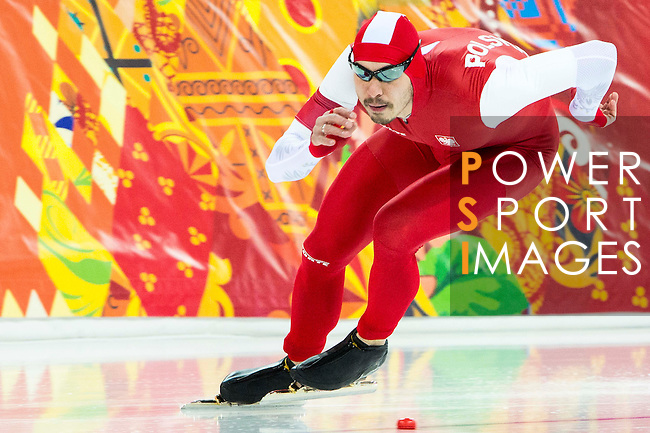 Artur Was of Poland compete during the Short Track Speed Skating as part of the 2014 Sochi Olympic Winter Games at Iceberg Skating Palace on February 10, 2014 in Sochi, Russia. Photo by Victor Fraile / Power Sport Images